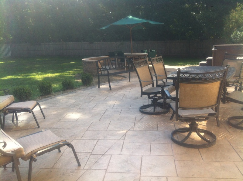 stamped concrete patio freehold nj