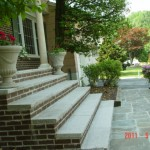 Granite Steps with Bluestone Walkway