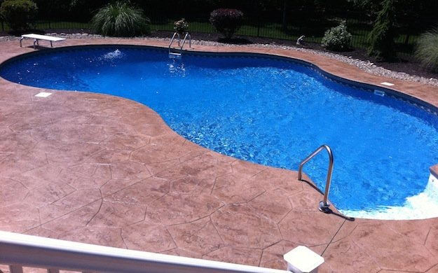 Stamped Concrete Pool Deck 07726