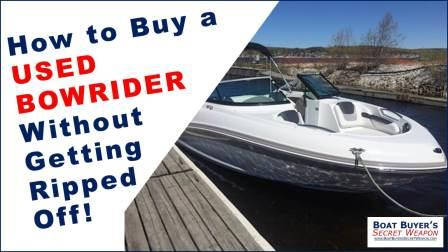 How to buy a used bow rider boat for sale