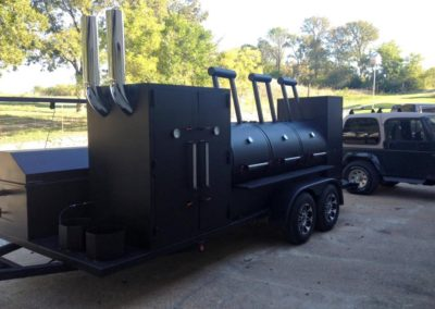 Black Trailer with Smoker