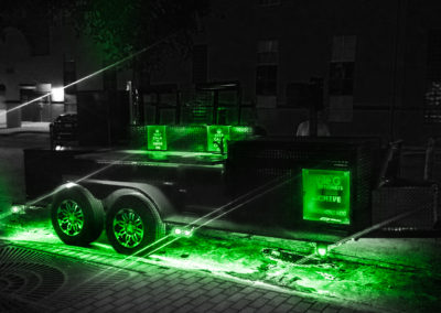 Trailer with Green Lights beneath