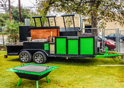 Green Trailer and Pit