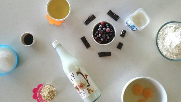 איך להכין מאפינס שקדים ופירות יער