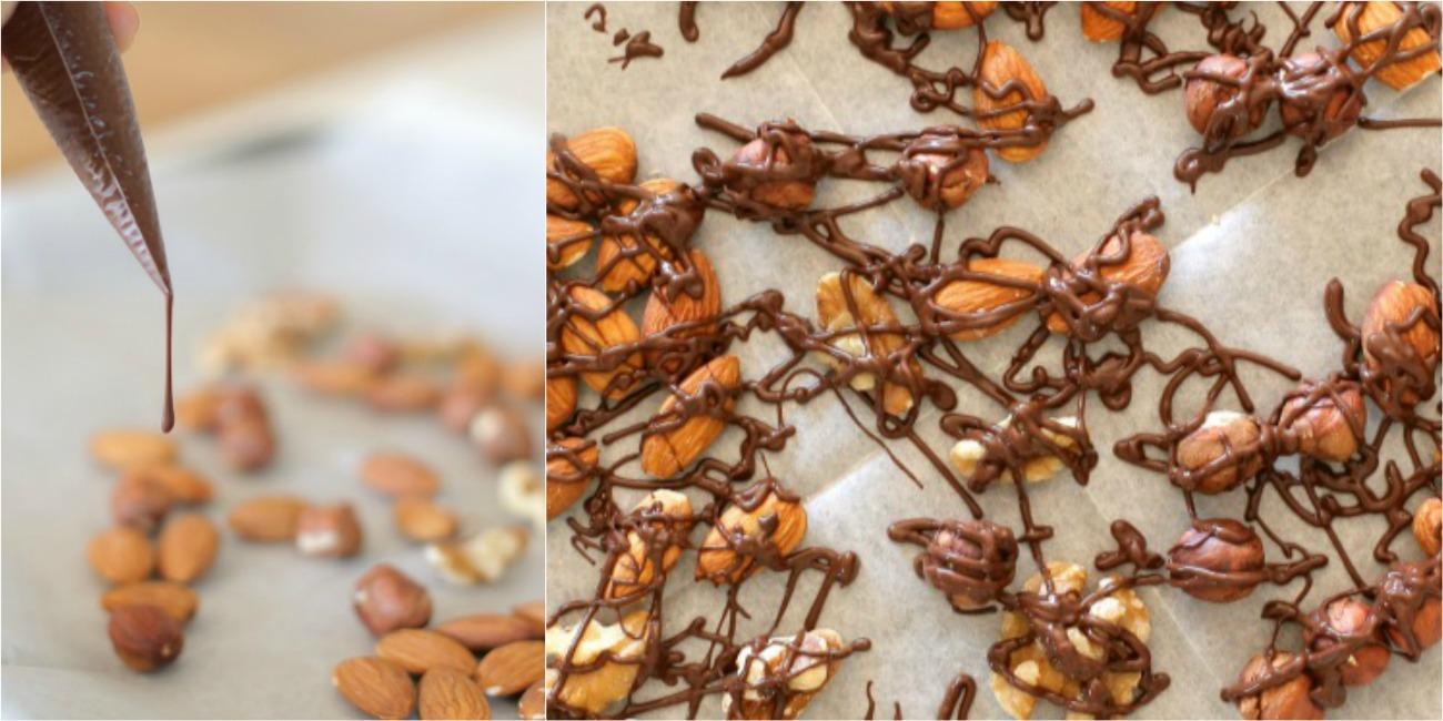 אגוזים מצופים בשוקולד|טיפים פשוטים למטבח ואירוח|הבלוג של אשת סטייל_צילום: טליה הדר EshetStyle.com