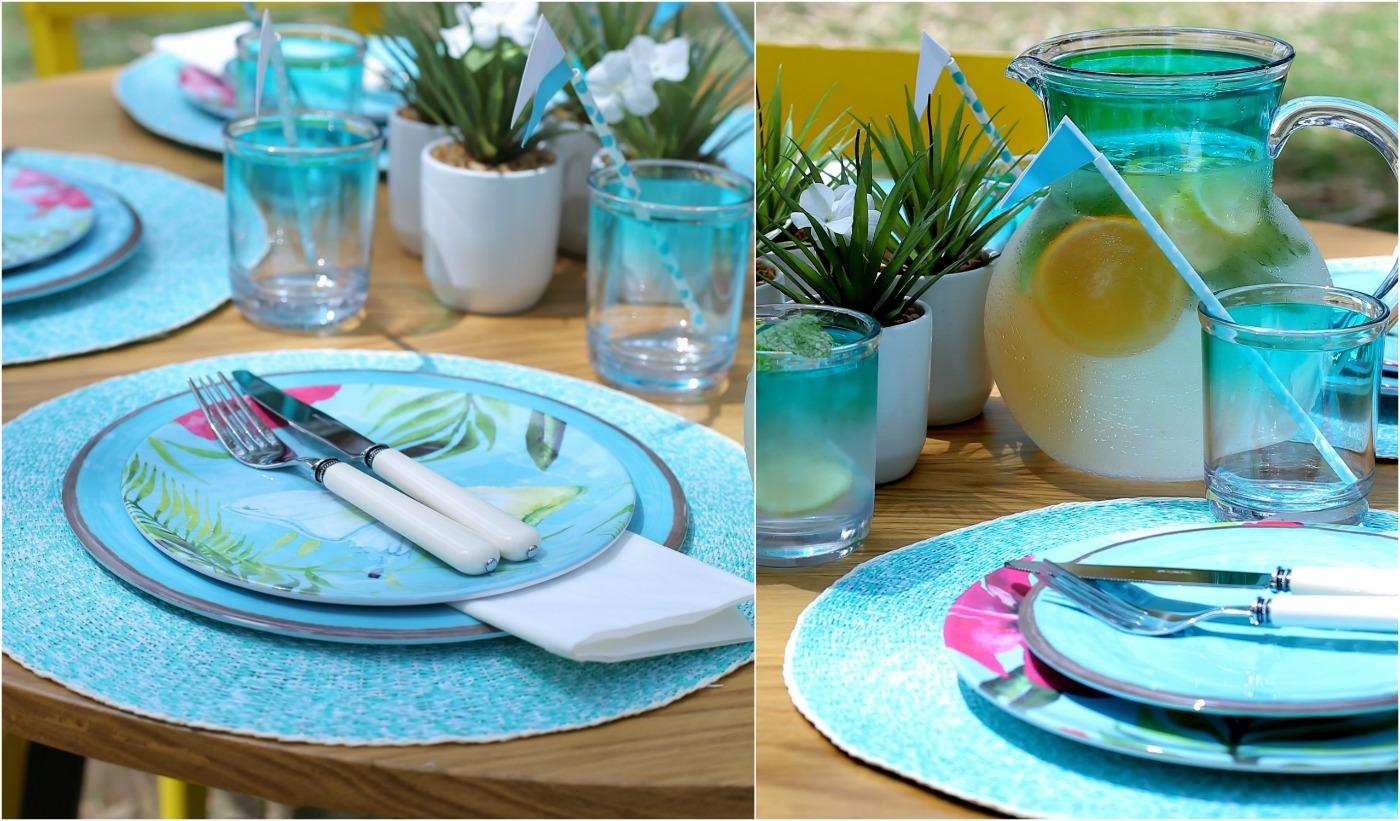 אירוח בחוץ עם כלי מלמין_צילום: טליה הדר עבור Foxhome