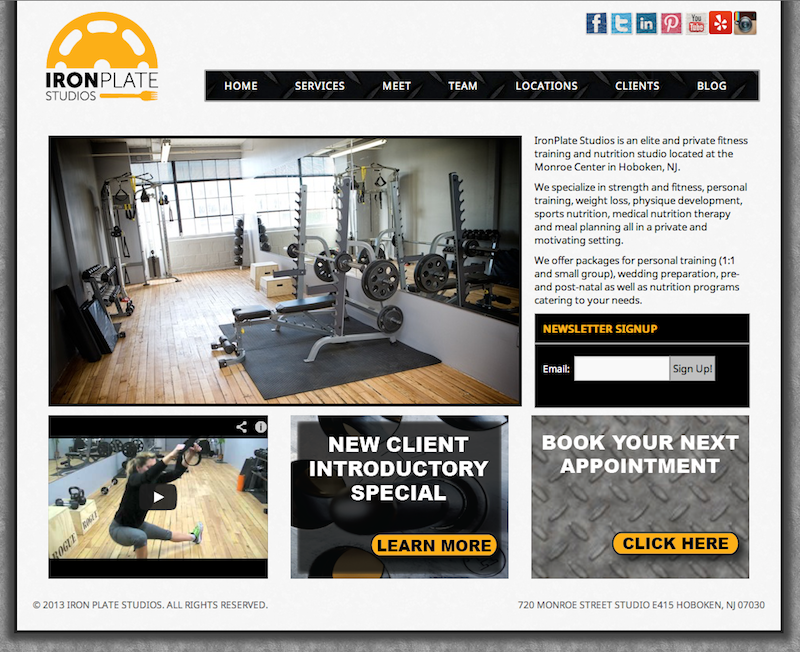 Gym Web Design