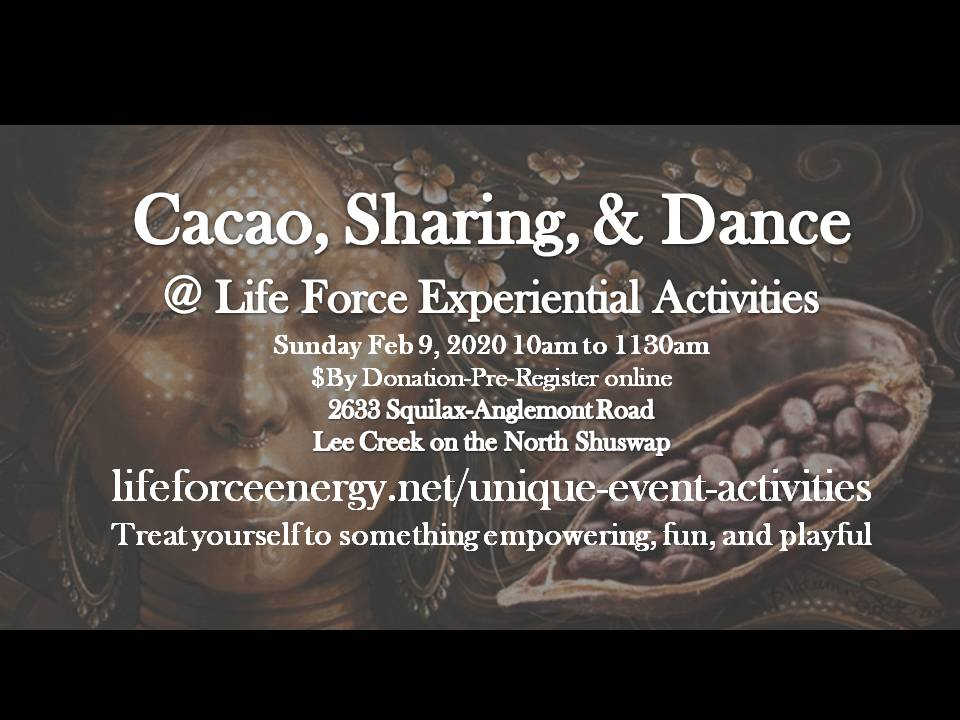 Cacao, Sharing, & Five Elements Dance