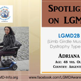 INDIVIDUAL WITH LGMD:  Adriana