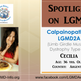 INDIVIDUAL WITH LGMD:  Cecilia