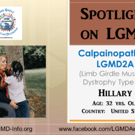 INDIVIDUAL WITH LGMD:  Hillary