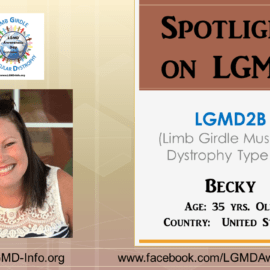 INDIVIDUAL WITH LGMD:  Becky
