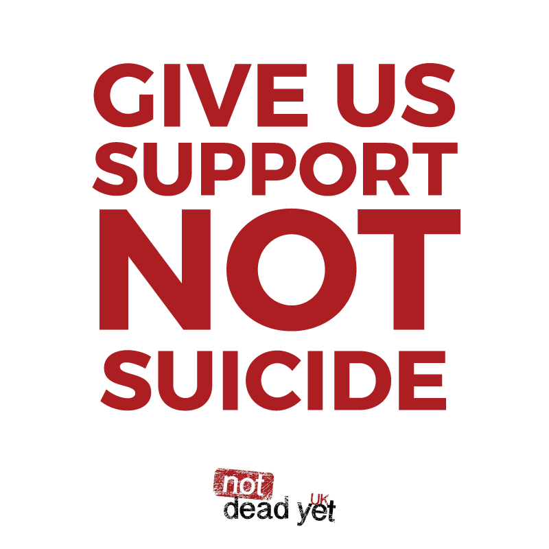 GIVE US SUPPORT NOT SUICIDE