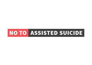 no to assisted suicide logo