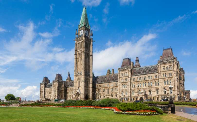 A picture of Canadian Parliament Building in Ottawa