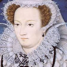 A picture of Queen Mary Tudor's face