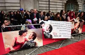NDYUK protesters with banners at film premiere