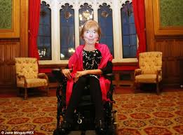 Baroness Jane Campbell pictured in the House of Lords