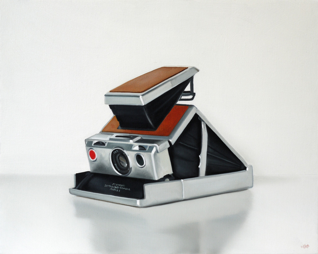 Vintage Polaroid SX-70 Camera Oil Painting by Christopher Stott