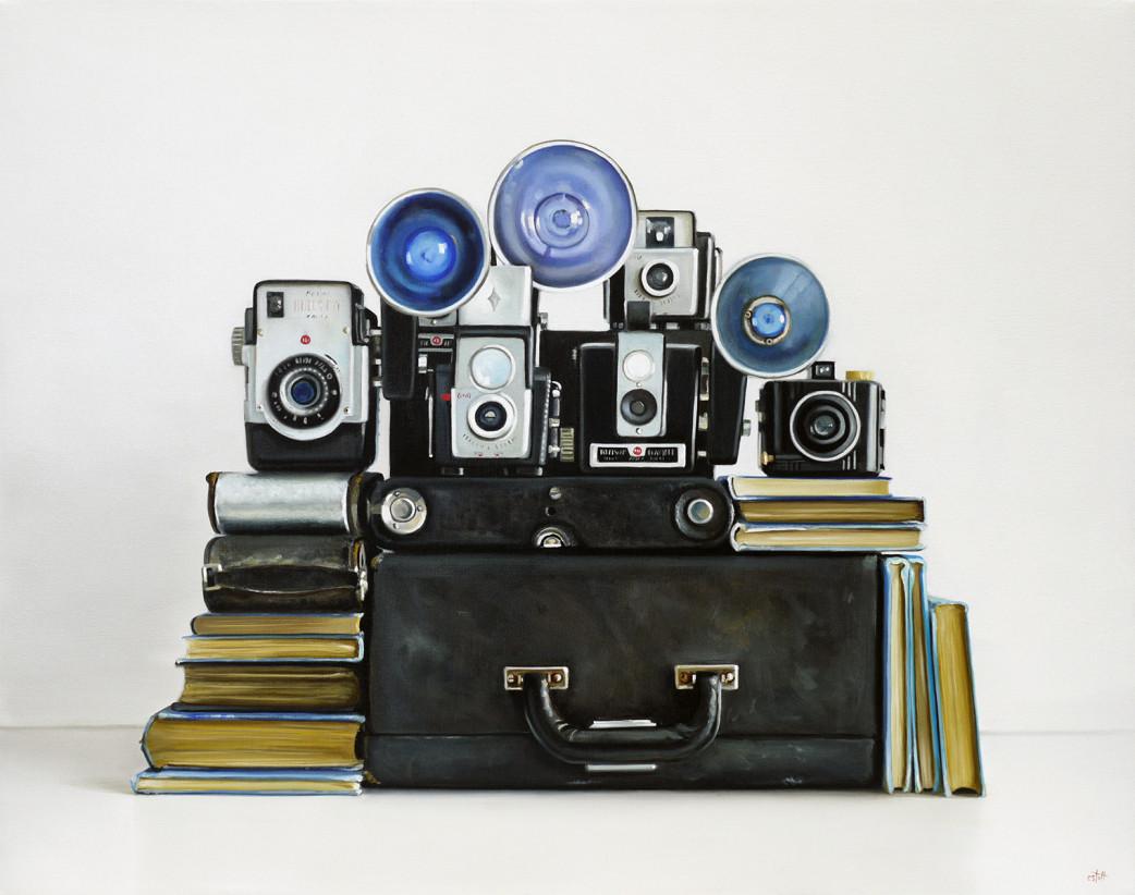 Vintage Kodak Camera Oil Painting by Christopher Stott