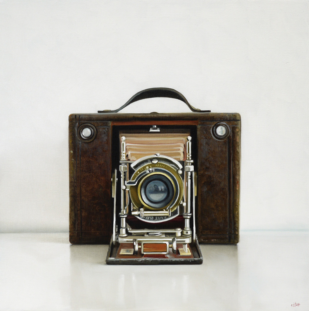 Antique Kodak Oil Painting by Christopher Stott