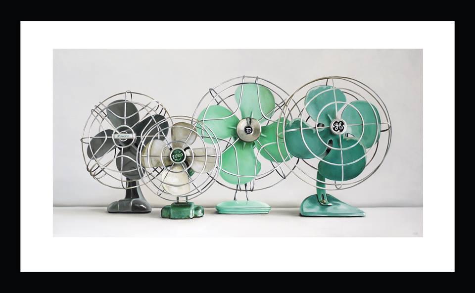 Four Vintage Fans by Christopher Stott