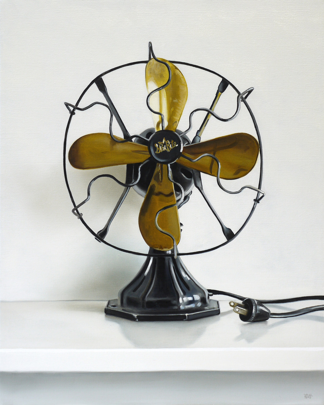 Vintage Star Rite Electric Fan Oil Painting by Christopher Stott