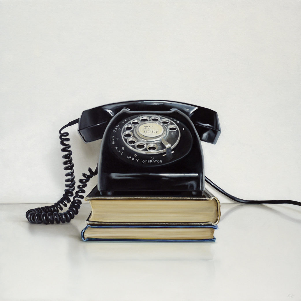 Rotary Telephone Oil Painting by Christopher Stott