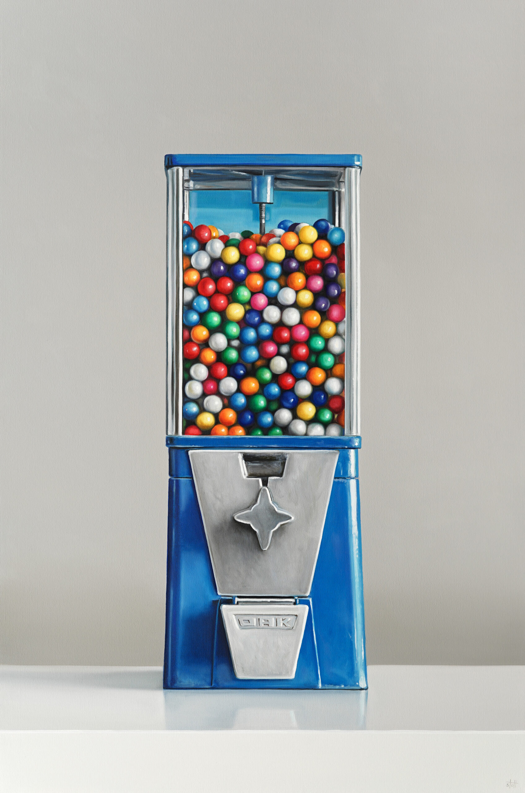 Oak Gumball Machine painting by Christopher Stott