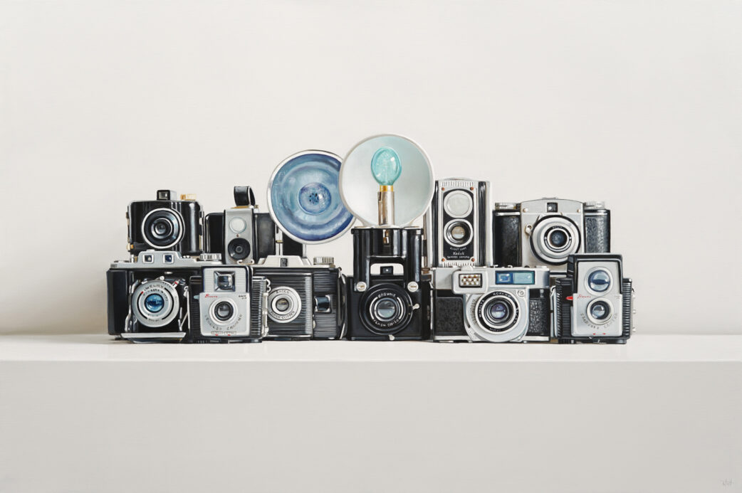 Ten Cameras Painting by Christopher Stott
