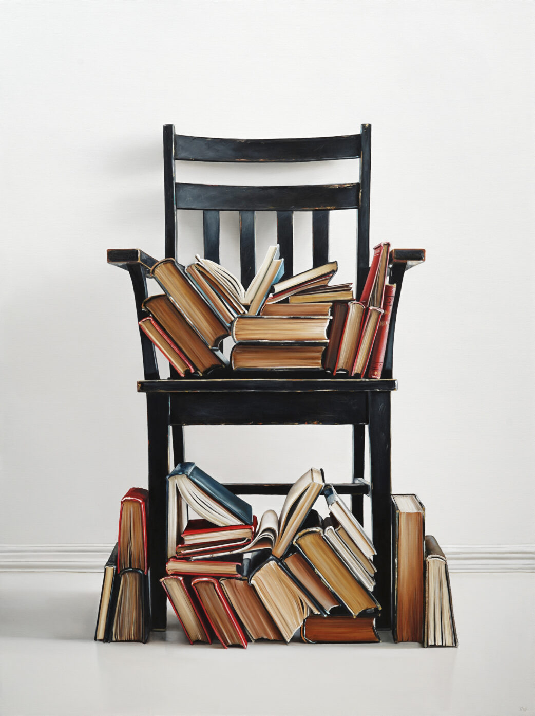 Lindstrom Chair with Books painting by Christopher Stott