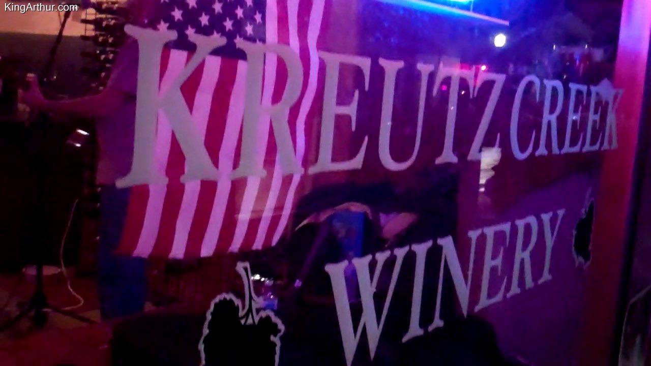Friday September 1st 2017 Kreutz Creek Winery