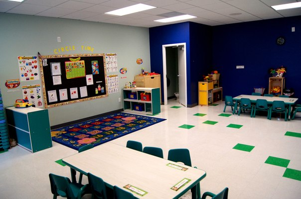 Blue classroom at The Nest Academy Learning preschool in Alexandria VA