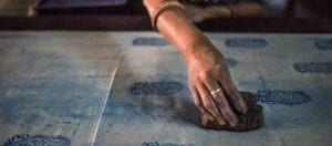 oni earth-kind fabrics login background - bagru India -10019