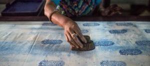 oni earth-kind fabrics login background - bagru India -10018