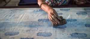 oni earth-kind fabrics login background - bagru India -10017