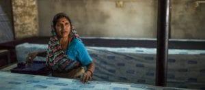 oni earth-kind fabrics login background - bagru India -10015