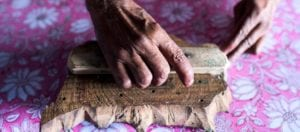 oni earth-kind fabrics login background - bagru India -10013