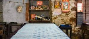 oni earth-kind fabrics login background - bagru India -1004