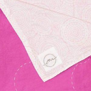 "Circles-of-Life-Pink-Kantha-Oni-Fabrics - SS17 - ""Kanthas"" Bedspreads - oni earth-kind fabrics"