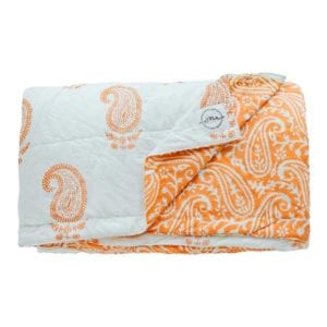 Jaipur-Coral Quilt - Suitable for a Single Bed, 140x210cms - Handblock printed - Non-toxic - eco-friendly dyes - Weight: 1 kg = Oni Earth-kind Fabrics