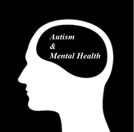Empty image of a head with the words autism and mental health inside