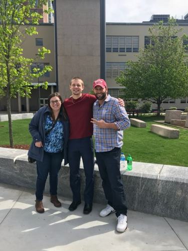 With Autism Behavioral Services owner Nassim Auode and Doctorate Student in Neuroscience Sohpie Schwartz at Boston University Autism Research Center - May 2018