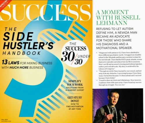 Russell Lehmann Motivational Speaker Success Magazine - June 2019