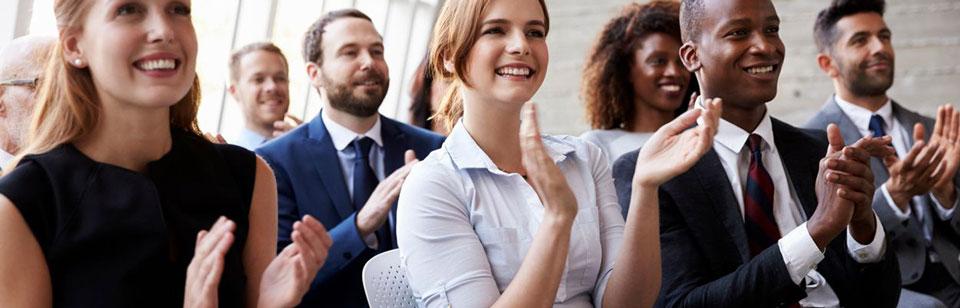 People attending training workshop