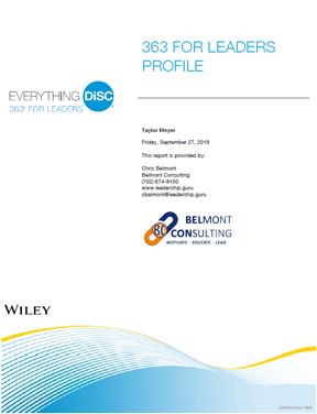 Everything DiSC 363 For Leaders Facilitator Report