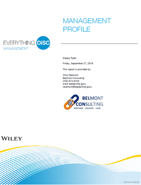 DiSC Management Report Cover