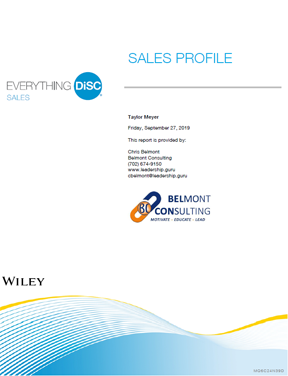 DiSC Sales Profile Report Cover