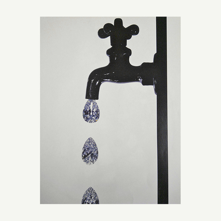 ON THE WALL   Faucet Dripping Diamonds by Irving Penn, New York, 1963