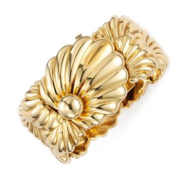 14k Gold 'Shell' Watch, circa 1945, by Cartier